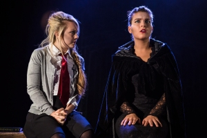 GRIM A New Musical Georgi Mottram (Amelia) and Grim (Roseanna Christoforou Photo Scott Rylander