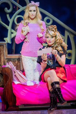 thumbnail_Legally Blonde Lucie Jones (Elle Woods) left, Rita Simons (Paulette Bonafonte) Photo Robert Workman.preview