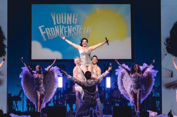 WEST END EUROVISION Young Frankenstein perform DTaje Me To Your Heaven Photo Darren Bell_preview