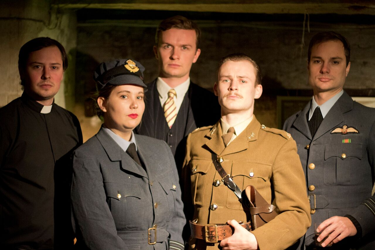 Michael Thomas, Zoe Flint, Peter Dewhurst, Christopher Russenberger and Edward Andrews in For King and Country, courtesy of Owen Kingston_preview
